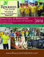 Cover of 2016 Directory of Resources for Older Adults